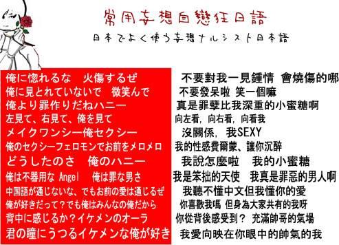 常用妄想自戀狂日語。-日常ナルシスト日本語-