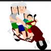 很多台灣人騎機車。怎麼騎機車怎麼用機車、也非常多樣。